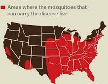 where mosquitos carrying virus live in US
