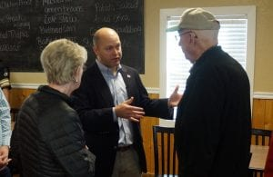 Meeting with Gilmer residents for breakfast allowed Hunter Hill a chance to meet and speak with local citizens about issues and his vision for the Governor's Office.